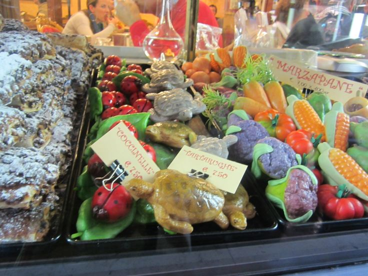 Marzipan on display at a shop in Venice, Italy.
