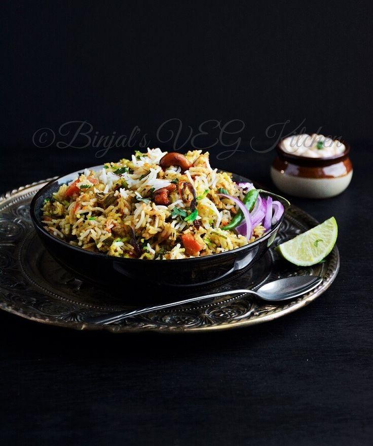 Hyderabadi Veg Biryani - Binjal's VEG Kitchen