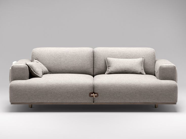 Upholstered 2 seater fabric sofa Duffle Collection by Bosc | design Jean Louis Iratzoki