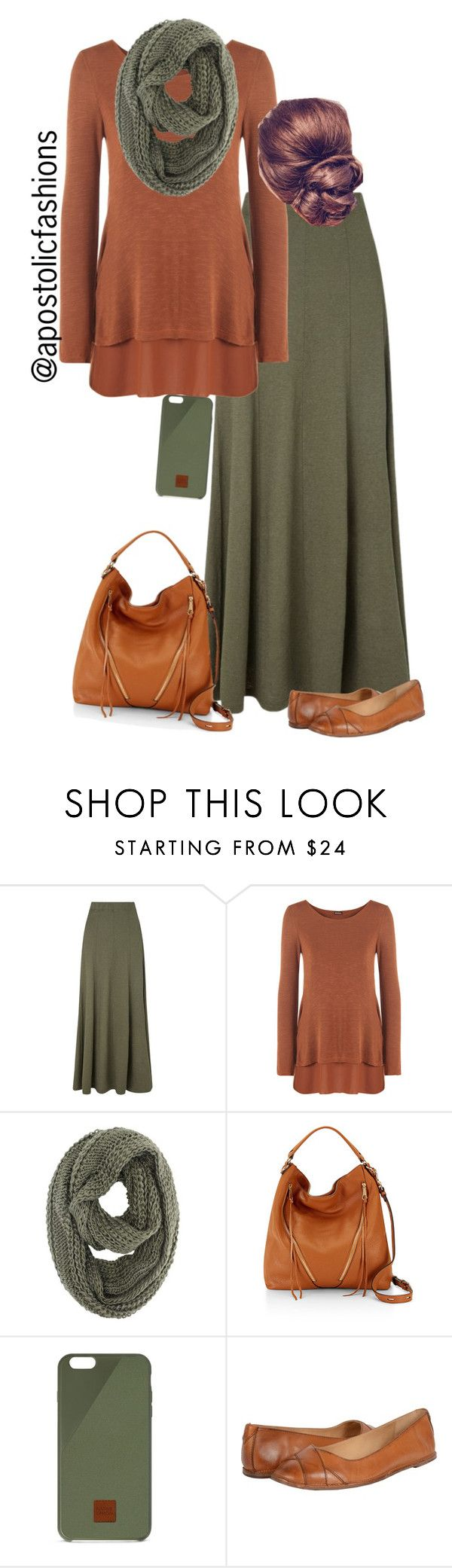"""Apostolic Fashions #968"" by apostolicfashions on Polyvore featuring EAST, WearAll, Rebecca Minkoff, Native Union and Frye"