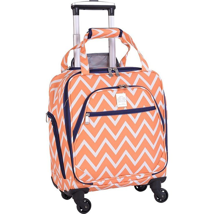 Jenni Chan 0100015SORG Aria Madison 15-Inch Spinner Tote, Orange, United States Carry-On: Amazon.ca: Luggage & Bags