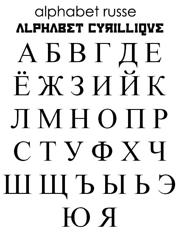 L'alphabet russe version 0