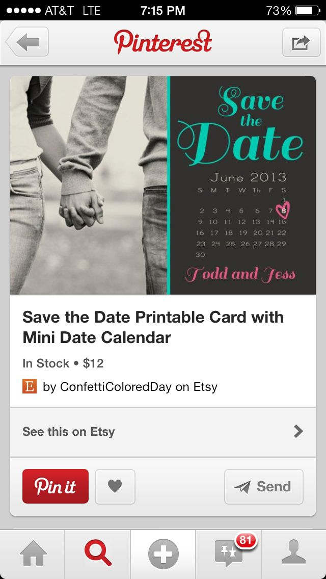 I like the idea of a calendar with the date circled! - Save the date