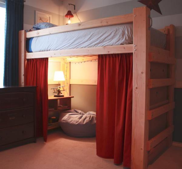17 best ideas about Loft Bed Curtains on Pinterest | Tween bedroom ...
