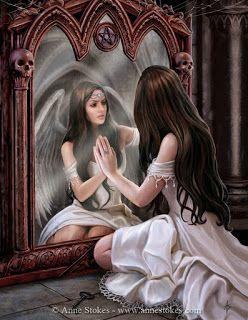 Un espacio para el Alma......: Mirando el espejo que sostiene otr@...Luna Llena e...
