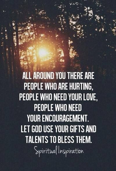 A good reminder that we are not alone. Everyone hurts, everyone struggles. During difficult times find ways to serve others!