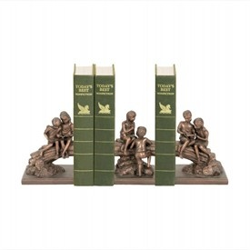 I love the fact that the bookends are comprised of three unusual pieces. Not only will the bookends display some of my favorite books but the precious scene is sure to be a great topic of conversation. The Secret Tree bookends will definitely add a touch of whimsy to my entertainment center and I can't wait to get them!
