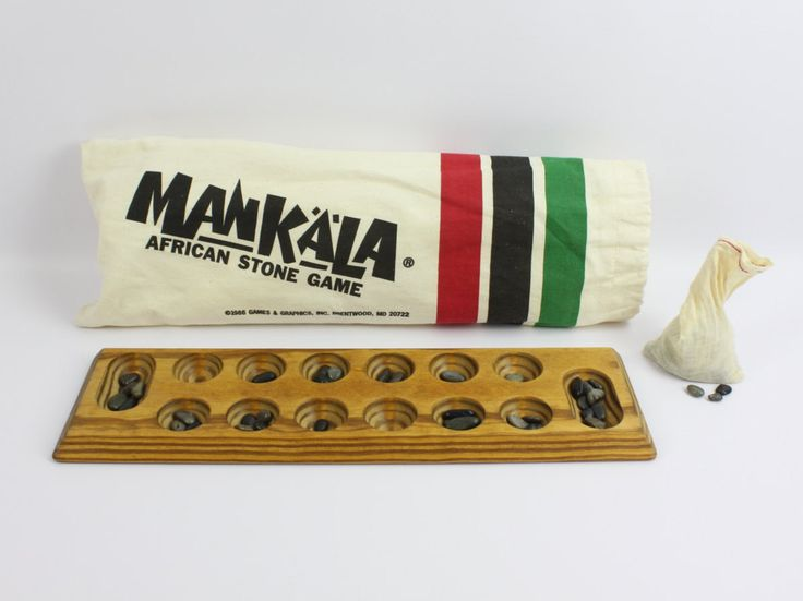 Vintage 1986 Mancala African Stone Game by TheDreamersCo on Etsy
