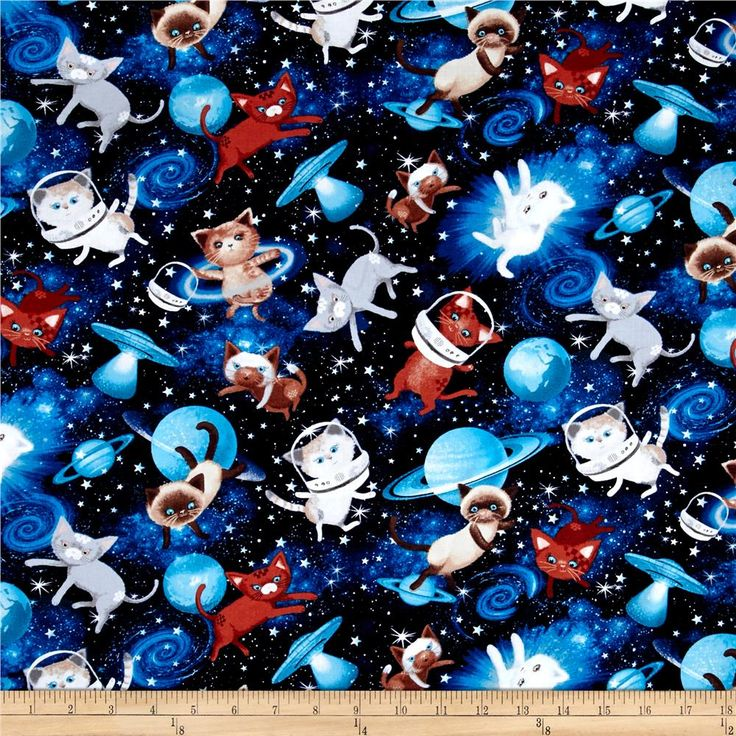 119 best images about fabric i love on pinterest kitty for Space cat fabric