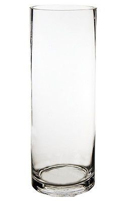 "Cylinder Vase, Glass Vases Wholesale. H-14"", Open Diameter - 5"" (Lot of 6 pcs)"