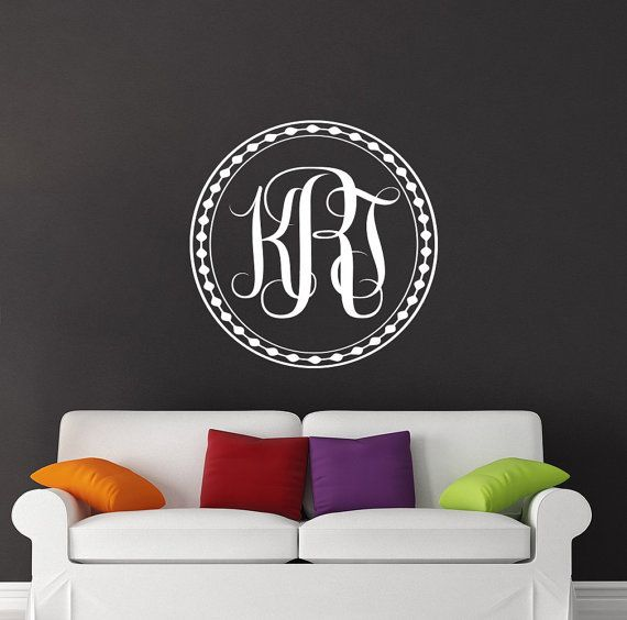 Best Name Wall Decals Images On Pinterest Name Wall Decals - Family monogram wall decals