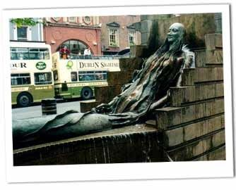 Anna Livia Fountain on O'Connell Street in Dublin was created in 1988.