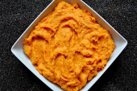 Whipped sweet potatoes.