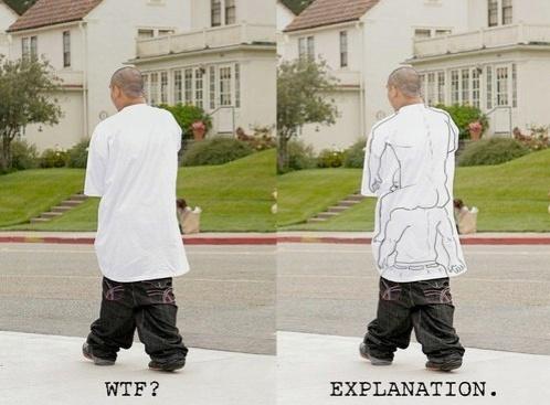 Now I understand why gangstas sag their pants