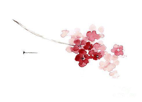38 best Flores images on Pinterest | Kirschblüten, Wasserfarben und ...