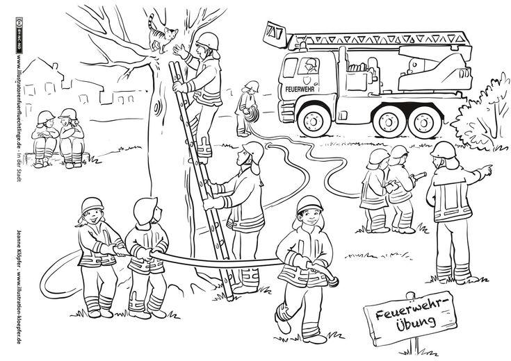Download als PDF: In der Stadt – Feuerwehr – Klöpfer