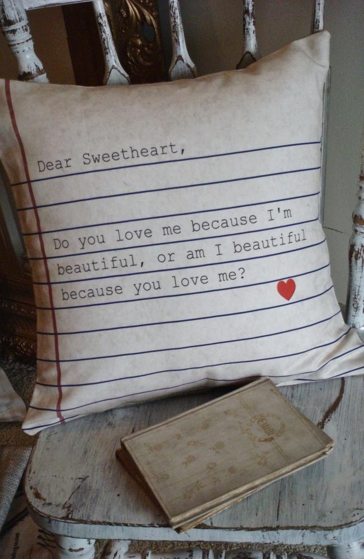 Любовь это слово ... подушка мило тоже!