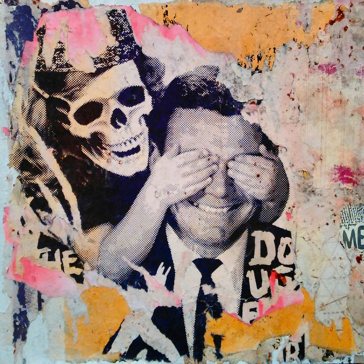 New piece added to my shop. 'Guess Who' 2016 Decollage. Perfect gift for any crusty punk.
