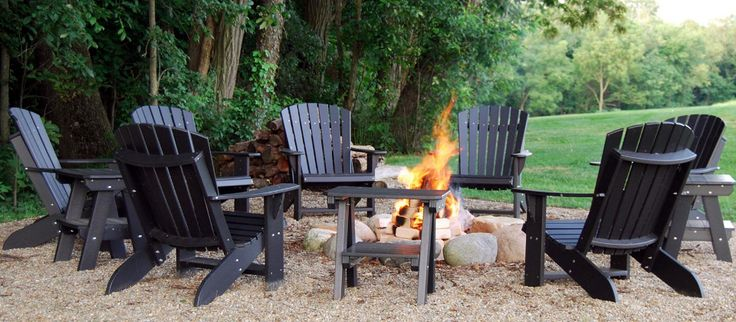 This outdoor hangout ticks every box: a fire pit for cooler nights, Adirondack chairs that inspire long-term lounging, and your bountiful backyard. Shop durable chairs designed for outdoors, top-rated fire pits, and outdoor accent pillows to personalize the look.