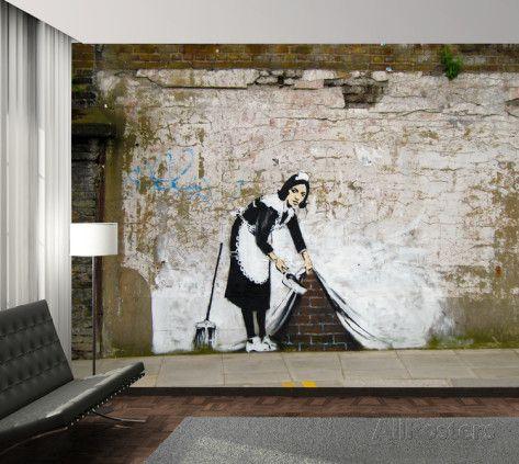 Maid Graffiti Wallpaper Mural Wandgemälde bei AllPosters.de