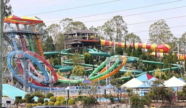 What a place: The Wet N Wild theme park on the Gold Coast in Australia is where they were filming Inbetweeners2