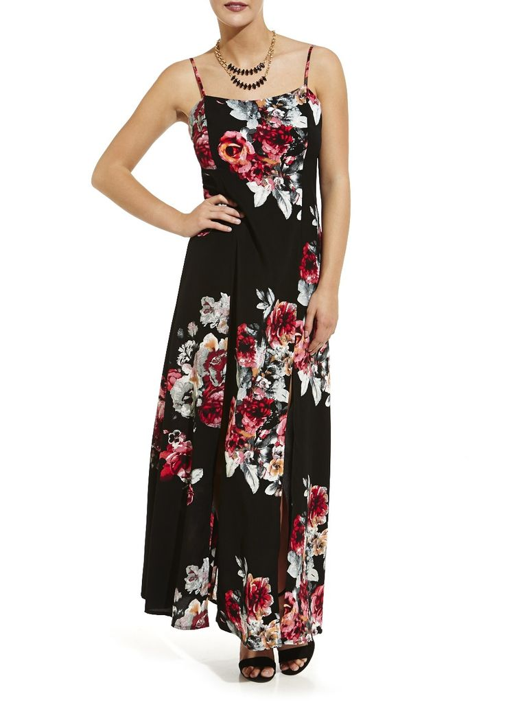 Pleated maxi dress matalan sale