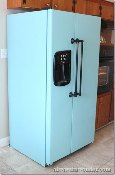 Best 25 painted fridge ideas on pinterest fridge for Chalkboard appliance paint
