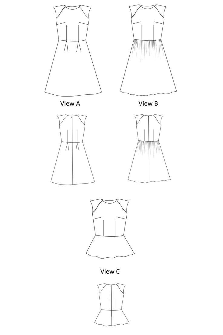 Cute Madison Dress Sewing Pattern by Liola Patterns