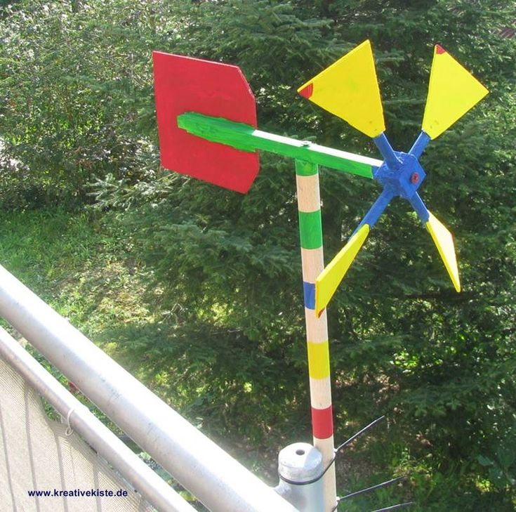 Einfaches Windrad mit Kindern bauen