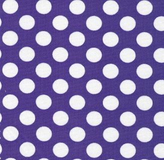 "Purple and White dot 60"" wide fabric from Fabric Finders, white dot on purple fabric by the yard, Clemson fabric, apparel sewing quilting by osewcrazygalfabrics on Etsy"