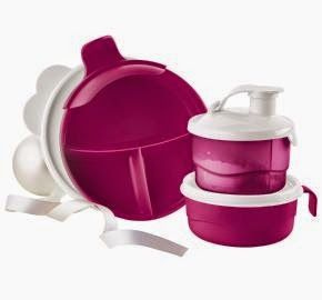 HI-HO HI-HO WITH TUPPERWARE WE GO: NEW Baby Stages Feeding Set This new Baby Stages Feeding Set is not only new, it is on sale. This $34 item is currently being introduced for $19! It is also available in a blue shade if you prefer. Check out this item and the other new TUPPERWARE items by visiting my website www.my.tupperware.com/lindacwilson