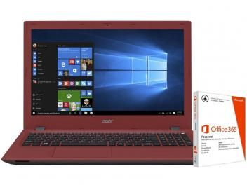 "Notebook Acer Aspire E5 Intel Core i3 - 4GB 1TB LED 15,6"" + Pacote Office 365"