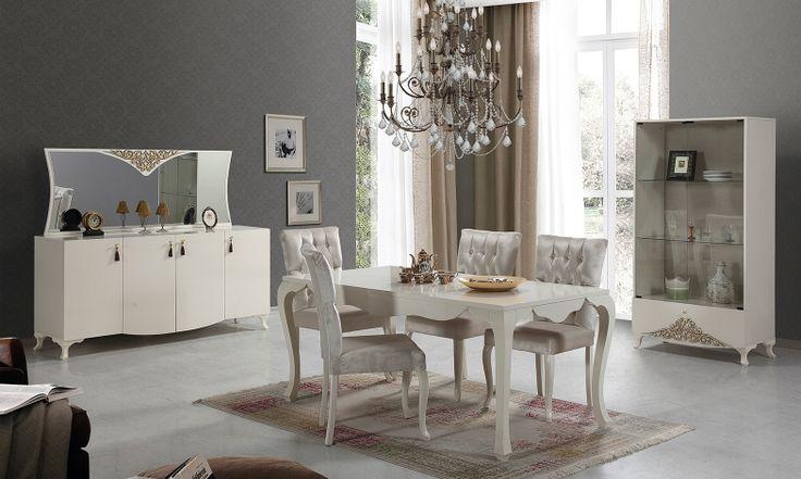 Dikkat! Bu renk uyumu iştahınızı kabartabilir... Leronda Yemek Odası Takımı ! #yemekodası #yemekodasi #tarz #tarzmobilya #mobilya #mobilyatarz #furniture #interior #home #ev #dekorasyon #şık #işlevsel #sağlam #tasarım #konforlu #livingroom #salon #dizayn #modern #rahat #konsol #follow #interior #armchair #klasik #modern