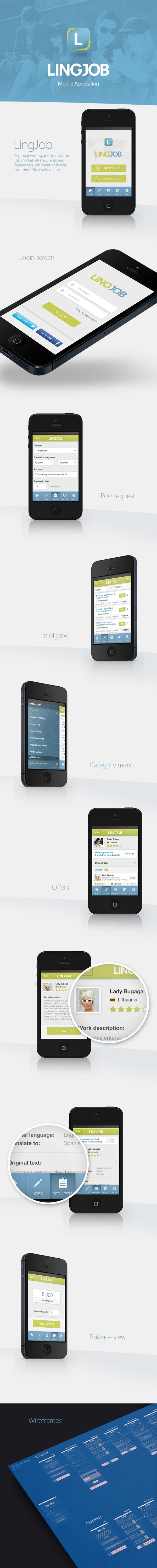 LingJob Mobile App by Filip Diumont, via Behance
