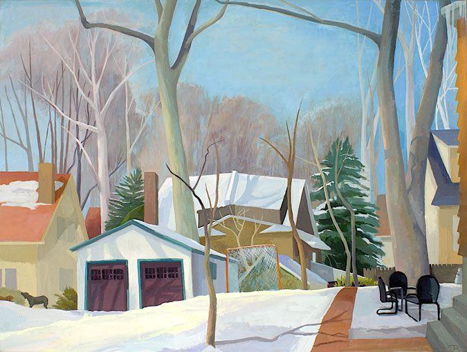 """Snow Soccer "" by Celia Reisman"
