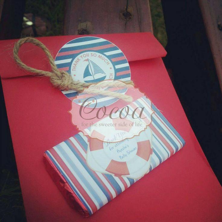 Sailor theme chocolate thank you gift