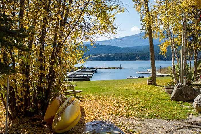 At Lake Windermere, BC.