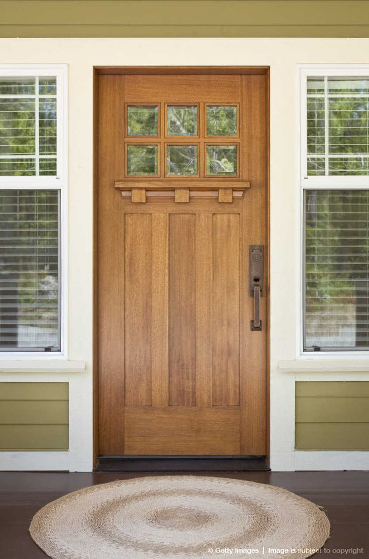Craftsman Style Home Decorating Ideas: Front Door Of Craftsman-style Home