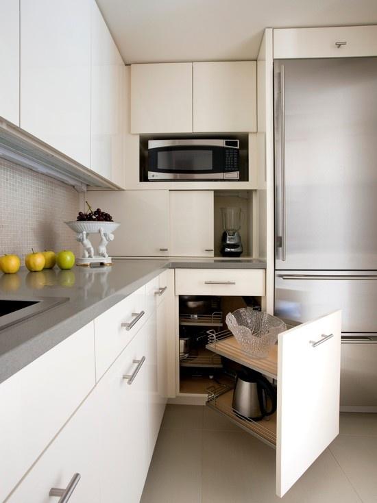 Grey and white kitchen!