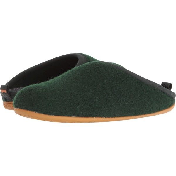 Camper Wabi - 18811 (Dark Green 1) Men's Slippers (67 CAD) ❤ liked on Polyvore featuring men's fashion, men's shoes, men's slippers, brown, mens brown shoes, mens slippers, camper mens shoes and mens shoes