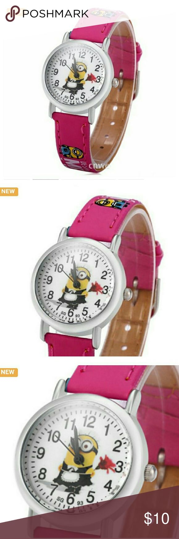 3D CHILDREN'S  ME MINION  WATCH Pink girl's watch. BRAND NEW ! EVERY KID ITEM COMES WITH A FREE GIFT ! Accessories Watches