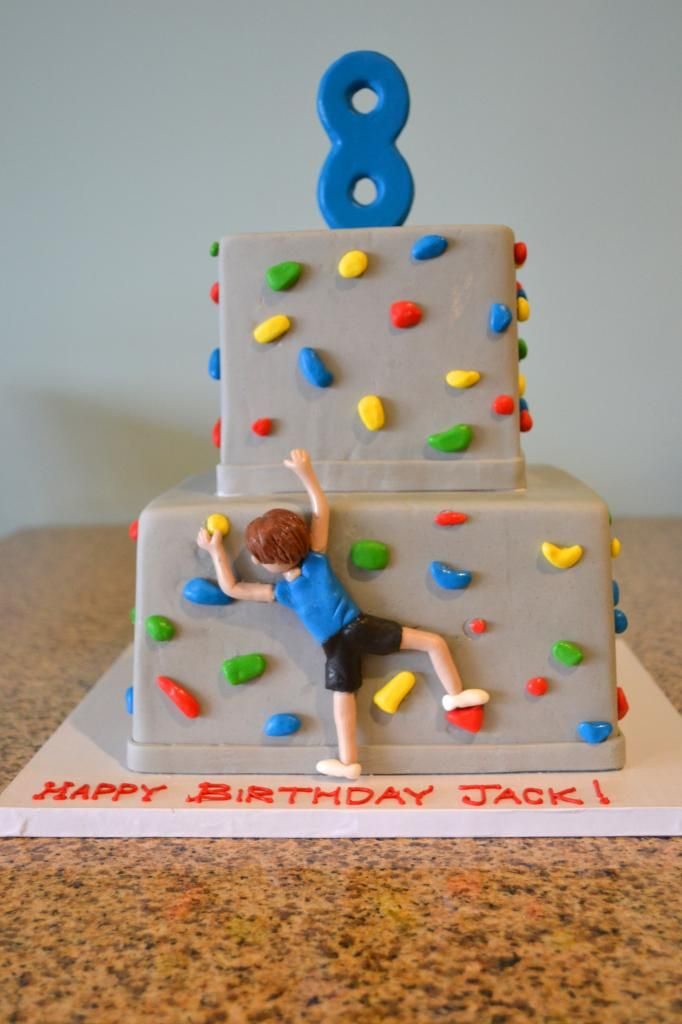 Sugarland's Rock Climbing Cake for Jack's 8th