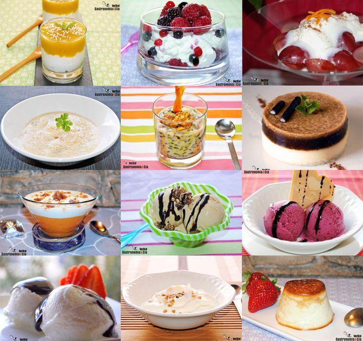 Doce recetas de postres con yogurt:  http://www.gastronomiaycia.com/2014/04/20/doce-recetas-de-postres-con-yogur/ ¡Riquísimas!