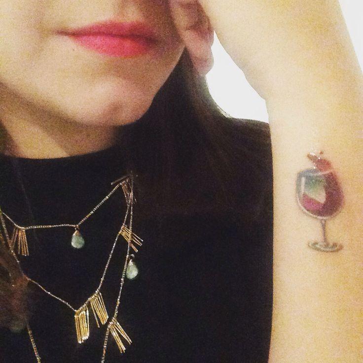 Wine tattoo Sommelier