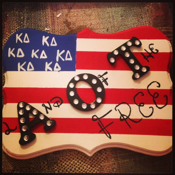 land of the FREE!! Kappa Delta AOT