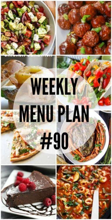Weekly Menu Plan #90 Weekly Menu Prepare #90 We have gotten... Menu Plan Weekly