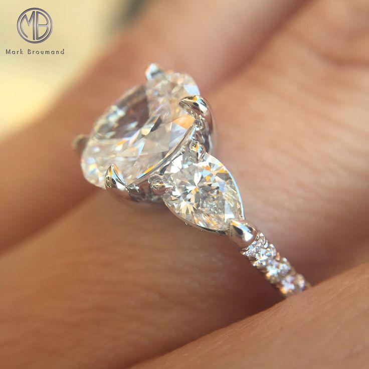 2.26ct Oval Cut Diamond Three-Stone Engagement Ring SKU: 3890-1