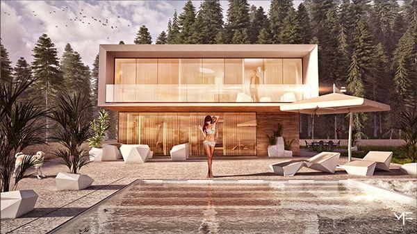 "Villa - ""FAIRY TALE"" pt.2 - Slovakia by Monika Feketeova, via Behance"