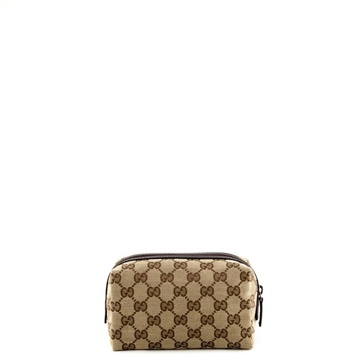 Gucci Brown Monogram Cosmetic Pouch - $290 CAD