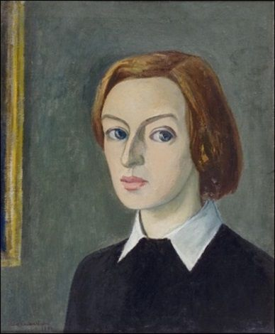 Omakuva by Eva Cederström, 1941, oil on canvas, 55 x 46 cm. (21.7 x 18.1 in.)